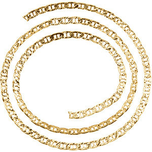 14kt Yellow BULK BY INCH Polished SOLID ANCHOR CHAIN. Price: $62.96
