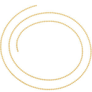 14kt Yellow BULK BY INCH Polished SOLID BEAD CHAIN. Price: $8.21