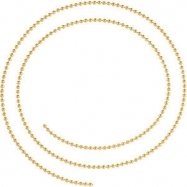 14kt Yellow BULK BY INCH Polished SOLID BEAD CHAIN