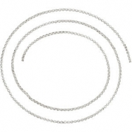 Sterling Silver 01.50 mm Bulk Bulk by Inch Rolo Chain