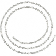 Sterling Silver BULK BY INCH Polished STER SILVER BULK ROPE CHAIN
