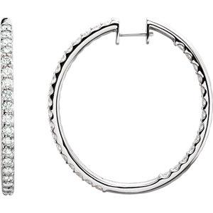 14kt White 5 CTW Pair 5CTW Diamond Inside-Outside Hoop Earrings. Price: $10278.50