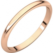 14kt Rose 02.00 mm Half Round Band