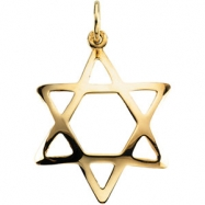 Sterling Silver 20.00X17.25 MM Polished DOMED STAR OF DAVID
