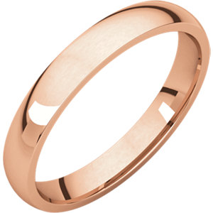 14kt Rose 03.00 mm Light Comfort Fit Band. Price: $272.67