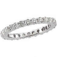 Platinum 7.5 1 1/2 CTW Diamond Eternity Band