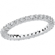 PLAT SIZE 06.00/ 1 CT TW P DIAMOND ETERNITY BAND
