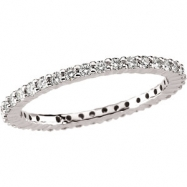 Platinum SIZE 07.00 1/2 CT TW Polished DIAMOND ETERNITY BAND