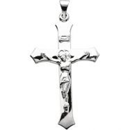 Sterling Silver 39.00X25.50 MM Polished CRUCIFIX PENDANT