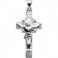 Sterling Silver 29.00X16.50 MM Polished CRUCIFIX PENDANT