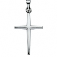 Sterling Silver 21.00X15.00 MM Polished CROSS PENDANT