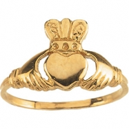 14KW RING P YOUTH CLADDAGH RING
