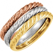 14kt Yellow SINGLE Polished BAND