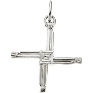 14KW 20.00X20.00 MM P ST. BRIDGETS CROSS PENDANT