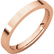 14kt Rose 02.50 mm Flat Comfort Fit Band