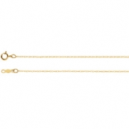 14kt White 18 INCH Polished LASERED TITAN GOLD ROPE CHAIN
