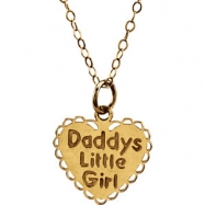 14kt Yellow 13.00X13.75 MM Polished CHILDRENS DADDYS LITTLE GIRL