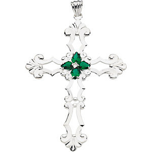STER MAY 77.00X56.00 MM P BIRTHSTONE CROSS. Price: $73.68
