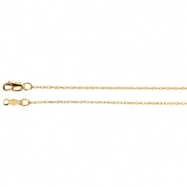 14kt White 16 INCH Polished LASERED TITAN GOLD ROPE CHAIN