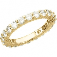 14kt Yellow 2 CT TW SIZE 06.00 Polished BRIDAL ETERNITY BAND