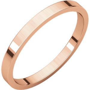 14kt Rose 02.00 mm Flat Band. Price: $188.25