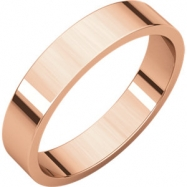 14kt Rose 04.00 mm Flat Band