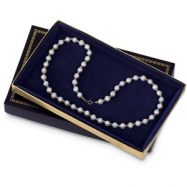 BLACK VELVET LINED SM PEARL BOX-PK24