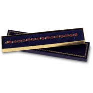 BLACK VELVET LINED BRACELET BOX-PK24