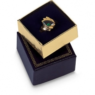 BLUE VELVET LINED RING BOX-PK/24