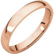 14kt Rose 03.00 mm Light Comfort Fit Band