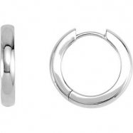 Platinum PAIR 17.50 MM Polished HINGED EARRING