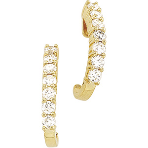 14kt Yellow Complete with Stone Pair 1CTW Diamond Earring. Price: $1738.83