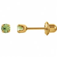 YP AUGUST 03.00 MM P SOLITAIRE BIRTHSTONE EARRING