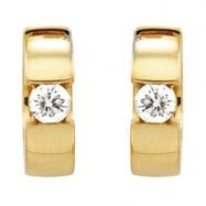 14kt Yellow Pair 1/2 CTW Diamond Hinged Earring