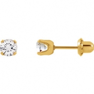YP .05.00 MM P CRYSTAL EARRING