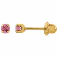 YP OCTOBER 03.00 MM P SOLITAIRE BIRTHSTONE EARRING