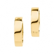 14kt Yellow PAIR 16.50 MM Polished HINGED EARRING