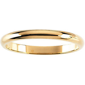 14kt Rose 02.00 mm Half Round Band. Price: $200.11
