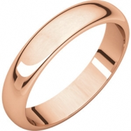 14kt Rose 04.00 mm Half Round Band