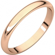 14kt Rose 02.50 mm Half Round Band