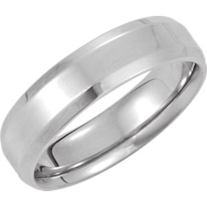 14kt White 8.5 06.00 mm Design Band. Price: $779.72