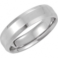 14kt White 8.5 06.00 mm Design Band