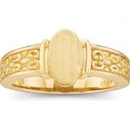 14kt Yellow RING Polished LADIES SIGNET RING