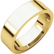 14kt Yellow 06.00 mm Flat Comfort Fit Band