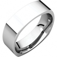 14kt White 06.00 mm Square Comfort Fit Band