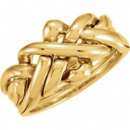 10kt Yellow LADIES Polished PUZZLE RING