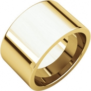 14kt Yellow 12.00 mm Flat Comfort Fit Band