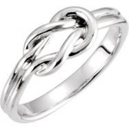 Platinum RING Polished METAL FASHION RING