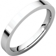 14kt White 02.50 mm Flat Comfort Fit Band
