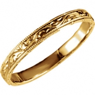 14kt Yellow 6 Hand Engraved Band